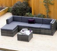 Latest normal design plastic weaving wicker rattan corner modular sofa chairs lounge target outdoor patio furniture