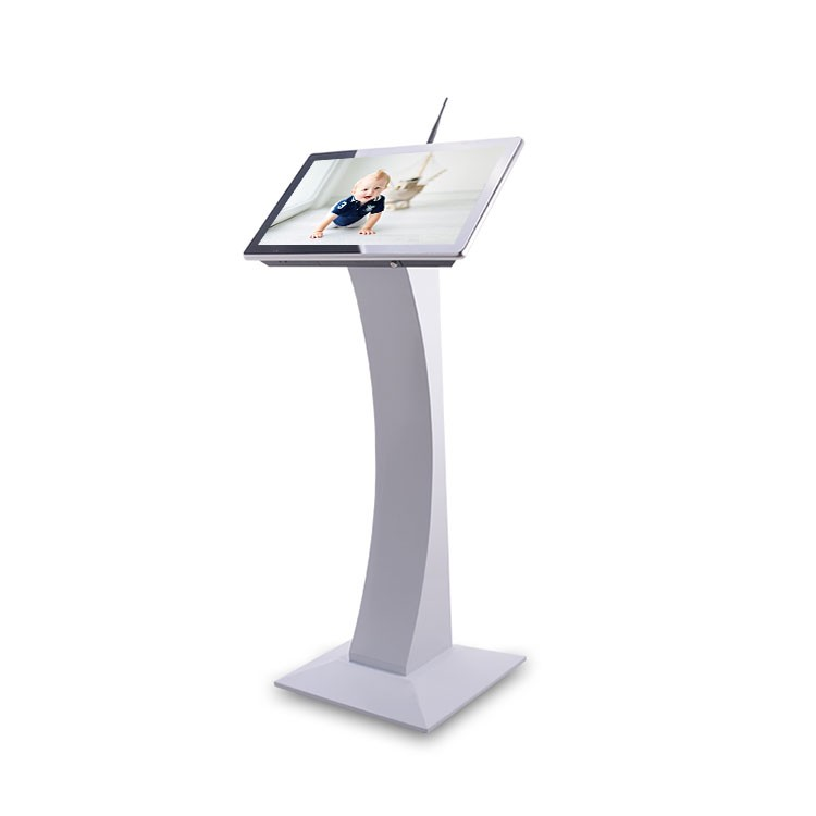 10 points capacitance LCD kiosk 21.5 inch free standing lcd ad player supplier