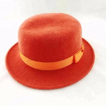 ce927172cc7c8 2019 wholesale round wool felt top hat logo custom colorful felt cowboy hat