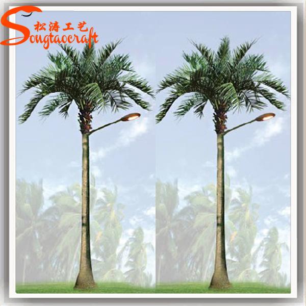 Outdoor Led Tree Solar Tree Lights Coconut Palm Tree View