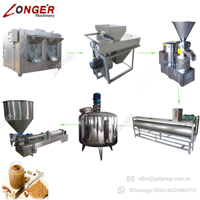 Good Service Walnut Paste Machine Production Line Cashew Nuts Butter Processing Equipment