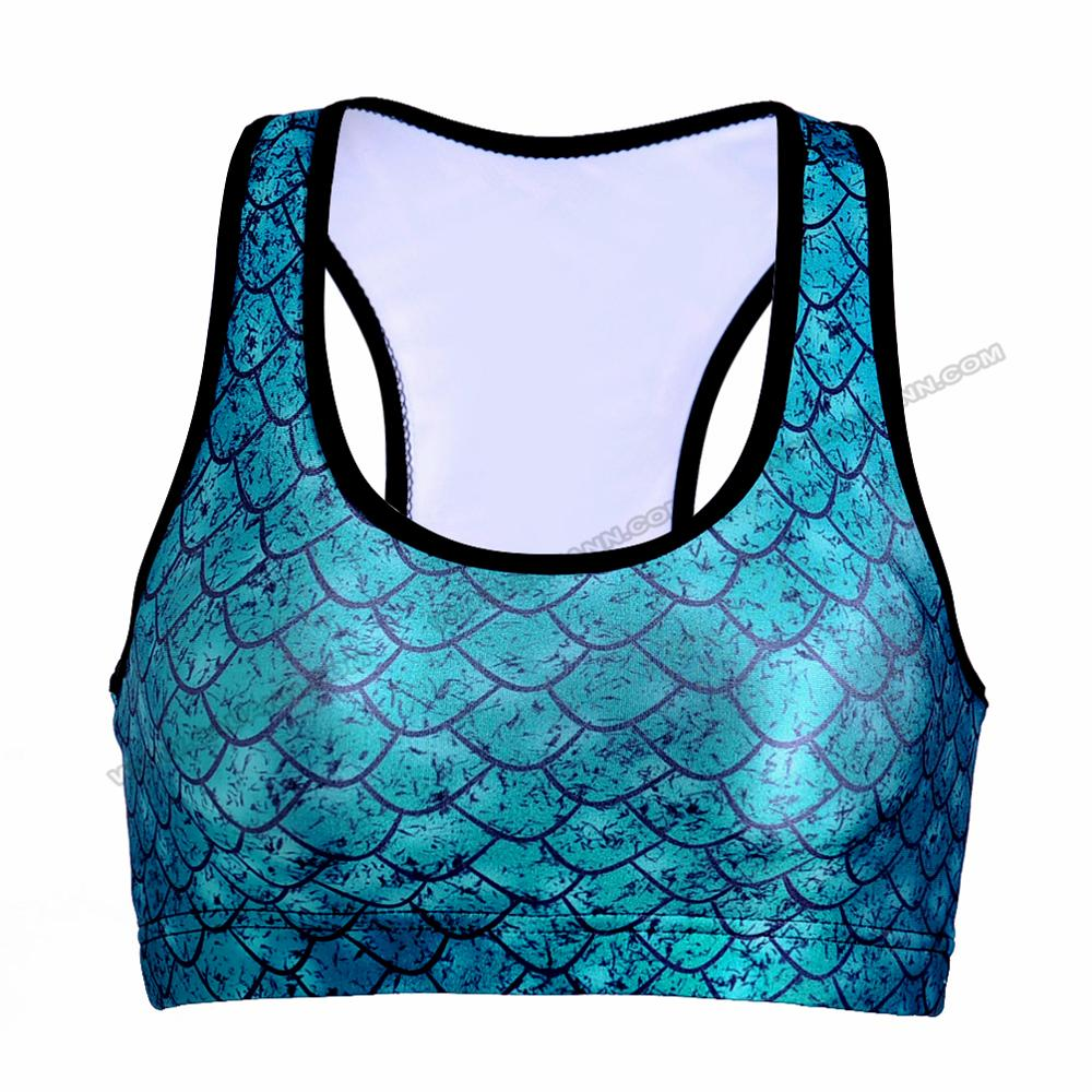 Online shopping sublimated printing spandex/ polyester sport bra women crane active wear