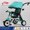 New Cool Toy Hot sales painting children tricycle rotation seat/kids tricycle with back seat/High quality metal Baby Tricycle CE