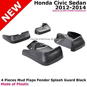 Honda Civic 12-14 Sedan Front Rear Fender Mud Guard Splash Flap 4PCS Black