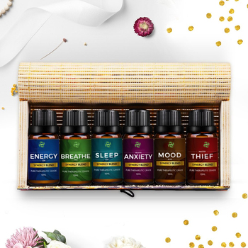 OEM/ODM Aromtherapy Essential Oil Welcome Blend Essential Oils Gift Set Breathe Sleep Anxiety Mood Energy and Thief Protection