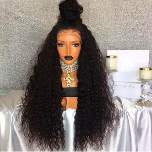 Integrated Circuit front lace wig human hair deep wave full lace wig cuticle aligned hair wig