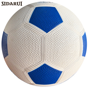 High quality New 2022 design red blue green yellow black rubber material football/soccer ball