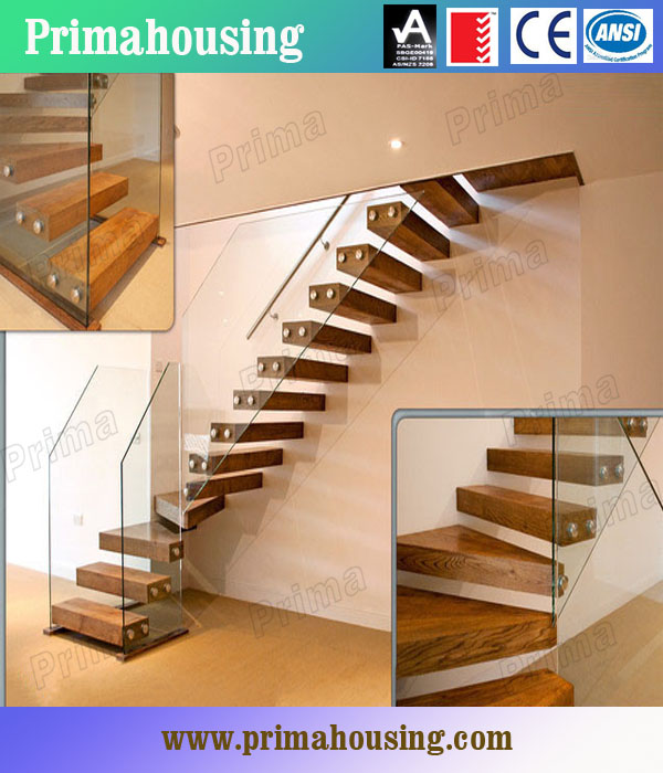 wood glass stairs design