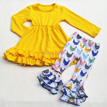 2017 Wholesale Remake Children Clothing Sets Ruffle Pants Outfits Girls Boutique Clothing