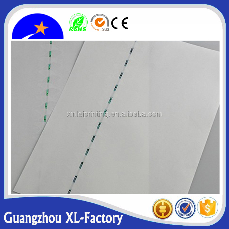 Chemical-Mechanical Pulp Pulping Type and Uncoated Coating a4 security paper,cotton linen paper