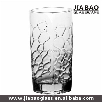 Hot sale 305ml tall and thin drinking glass cup clear cheap glass cup  highball glass