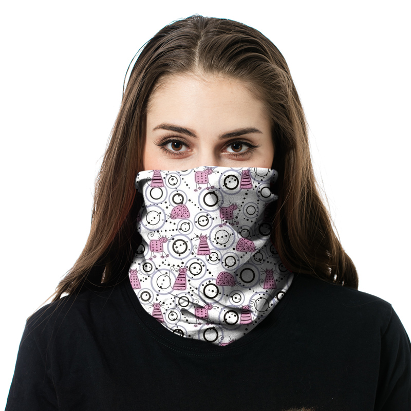 Fashion Custom Gedrukt Tube Facemask Naadloze Rijden Nek Warm Bandana