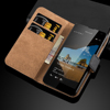 Luxury Genuine Real Leather Flip Wallet Stand Case Cover For Nokia Lumia 550