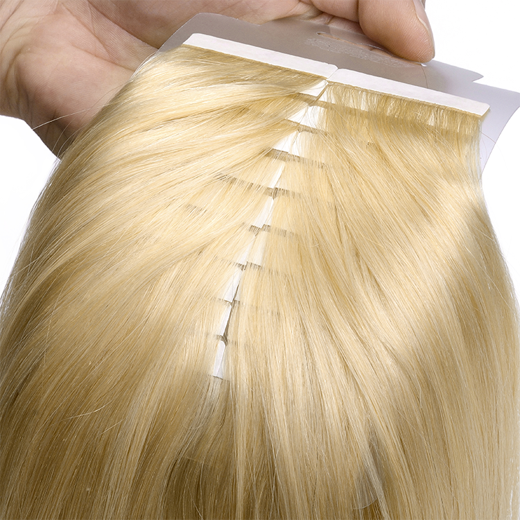 Blonde Color Top Quality Double Drawn Russian Tape Extensions Long