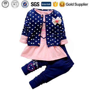 Children Cute Princess Print Bow Outfits Baby Girl Clothing Sets