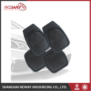 Embossed logo Blank White Car Mats For Sublimation Print