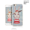 2017 New Style High Quality PU Rabbit Hat Phone Case ,pu Leather Case for iPhone 6,for iphone 6 waterproof case