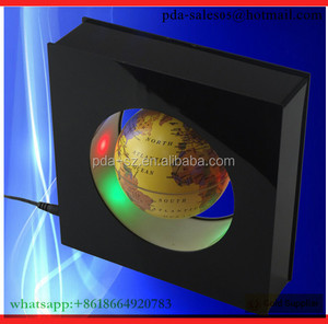 Auto Permanent colorful display Magnetic rotating globe