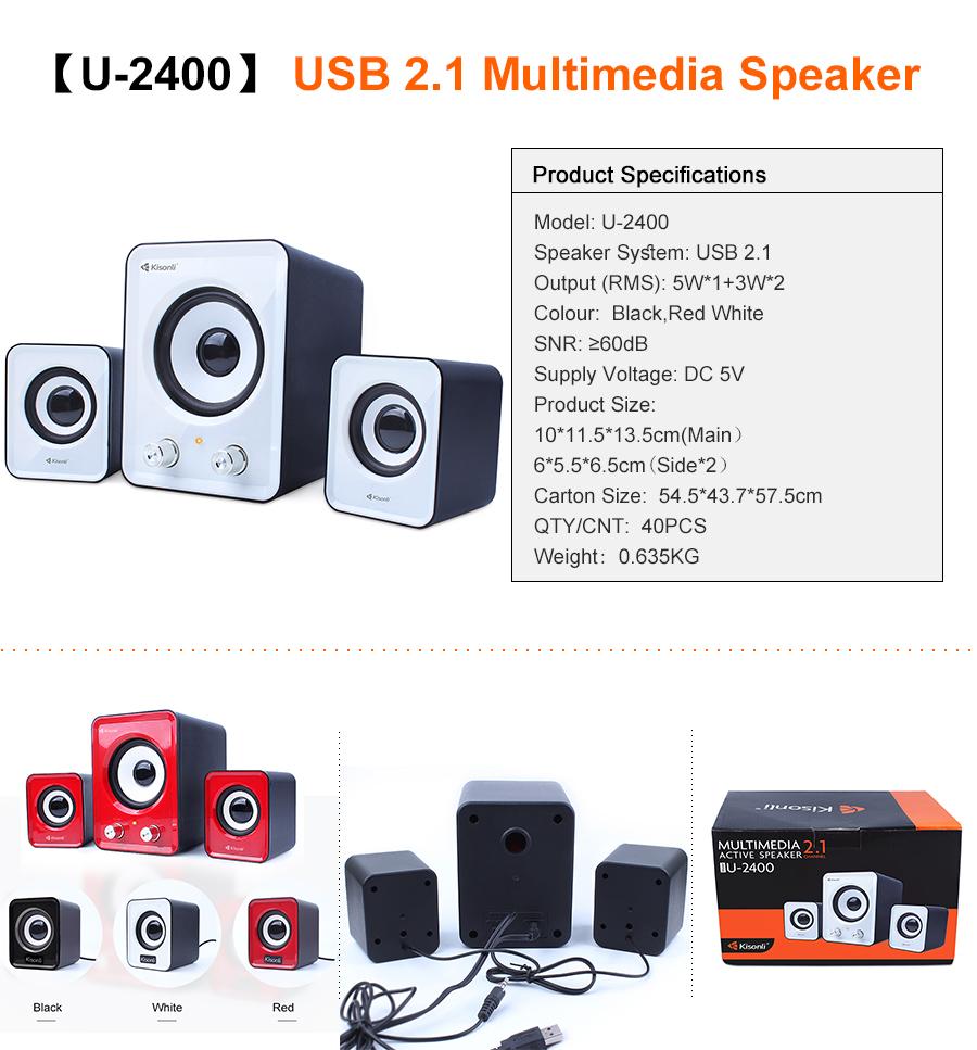 2.1 Subwoofer Multimedia Speaker System Phone Computer Laptop PC Desktop Speaker