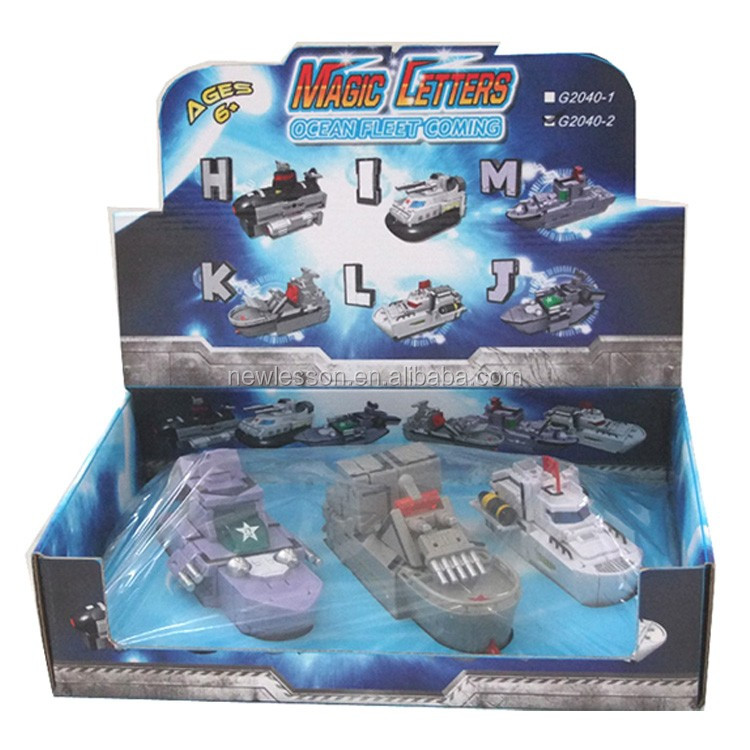 Funny Toy Game Transformable Naval Ship Toys for Kids