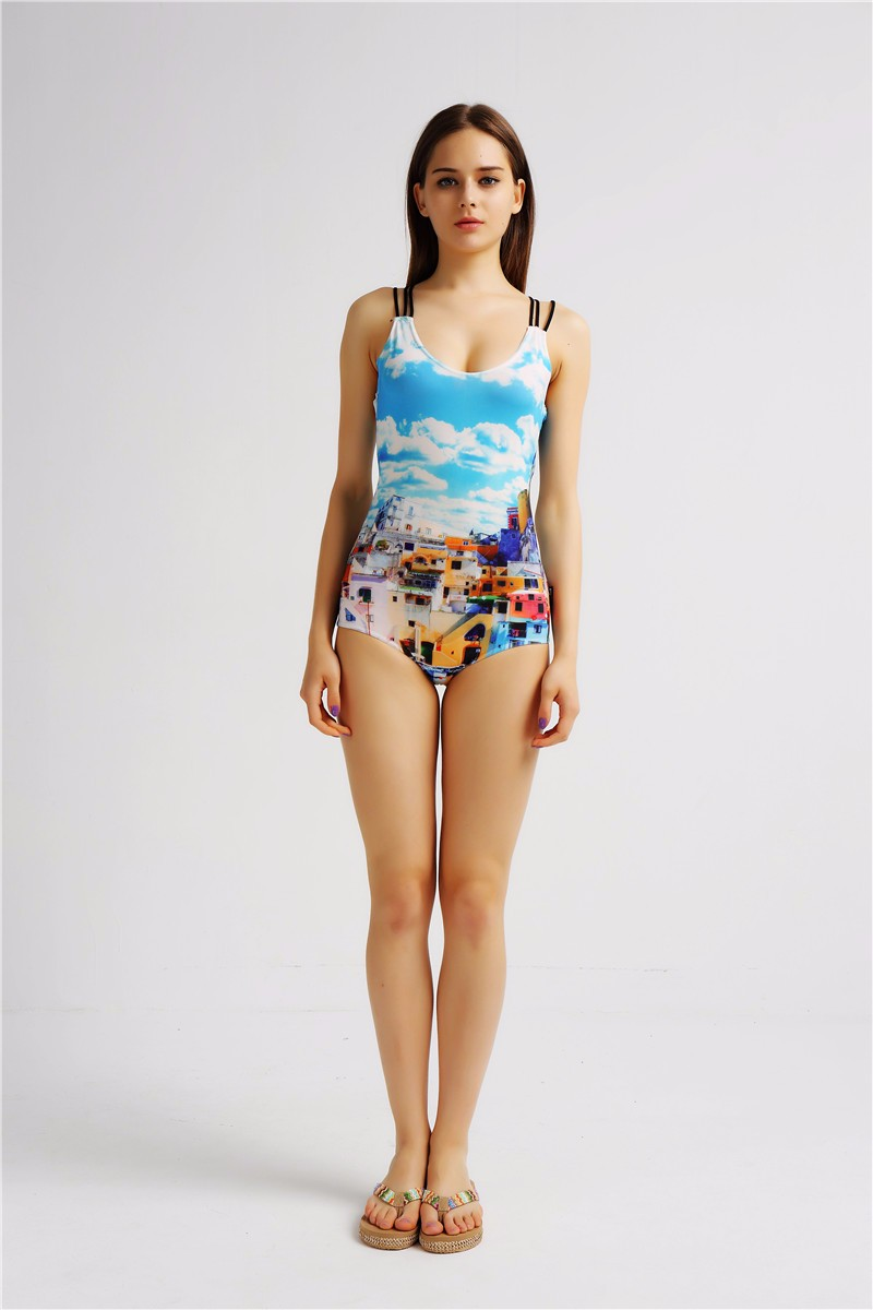 Hot Selling Women Dylan Latest Digital Printing Sexy One-peice Swimwear