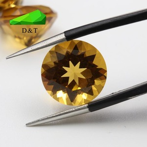 wholesale factory price natural untreated round brilliant cut citrine gemstone in bulk 10 mm