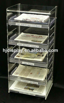newspaper rack for office. Home And Office Acrylic Newspaper Rack For