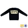 Wholesale Children's Boutique Baby Girls Winter Clothes Black Color Children Frock Designs Baby Girls Sweater