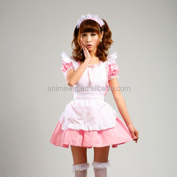 High Quality Uniform Clothes Sexy Dress Pink Lolita Maid