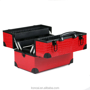 China Supplier OEM Professional Vanity Case Portable makeup box Beauty Case