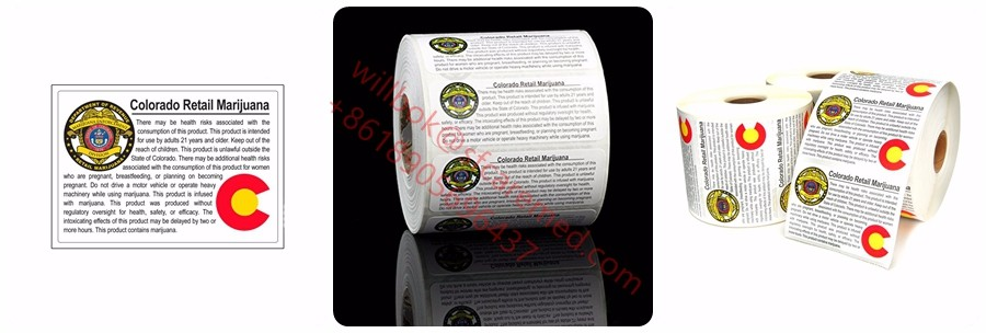 Co weed use new colorado retail compliant strain pots cannabis medical marijuana labels 420 stickers
