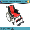 Aluminum frame,folded backrest,detachable footrest ,with anti-wheel wheelchair