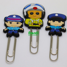 Hoge kwaliteit custom zachte pvc cartoon vorm <span class=keywords><strong>paperclip</strong></span>