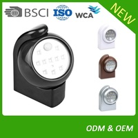 Plastic LED Motion Sensor Light With Sticker For Indoor,Night,Day