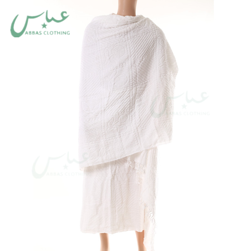 1200g/pair Factory Direct Selling 100 % Ihram Set 600g/pc *2 pcs ihram for hajj towel