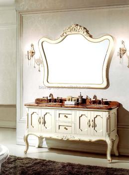 Antique Double Sink Bathroom Vanity White Vintage Furniture Wooden