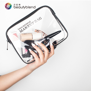 Transparent Travel waterproof clear zipper cosmetic PVC Makeup Bag