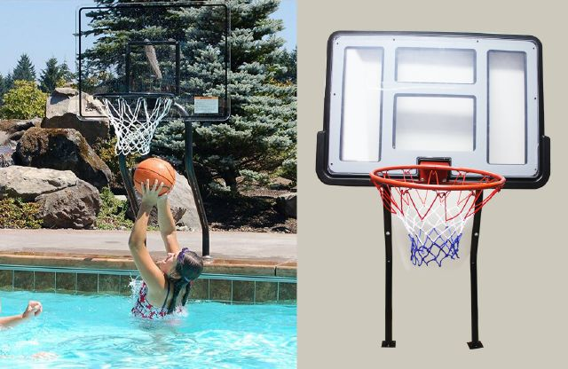 EASTONY Swimming pool portable basketball backboard/swimming pool Lexan Basketball hoop