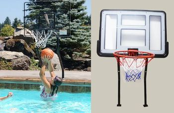 Eastony Swimming Pool Portable Basketball Backboard Swimming Pool Lexan Basketball Hoop Buy