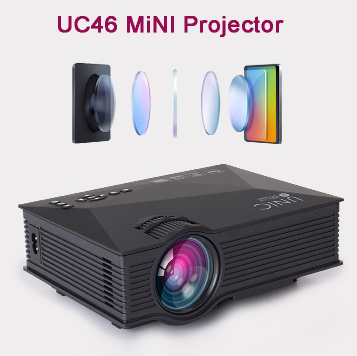 UC46 Mini LED LCD Projector Design by Portabel/ Simple for Game Use Wireless mini LED Projector