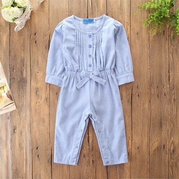 44c5253d3ea9 2018 Autumn Winter Kids Girls Clothing Blue Bow Overalls Pants Long ...
