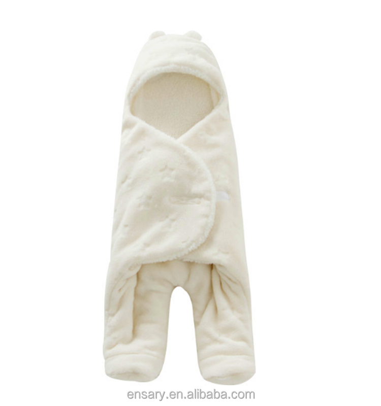 2017 Factory direct selling coral fleece baby swaddle blanket wrap Two legs sleeping bag with high quality