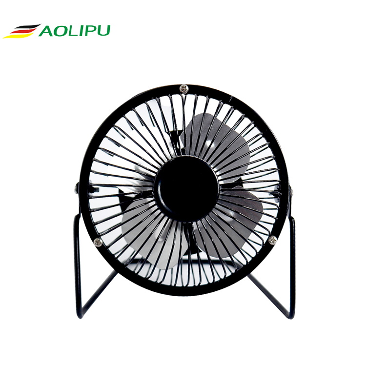 RoHS approval usb mini fan promotional gifts metal 4 inch desk portable usb fan