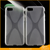X Line Design Slim Fit Rubber Protective Shell Soft Gel TPU Back Cover Case For iphone 7