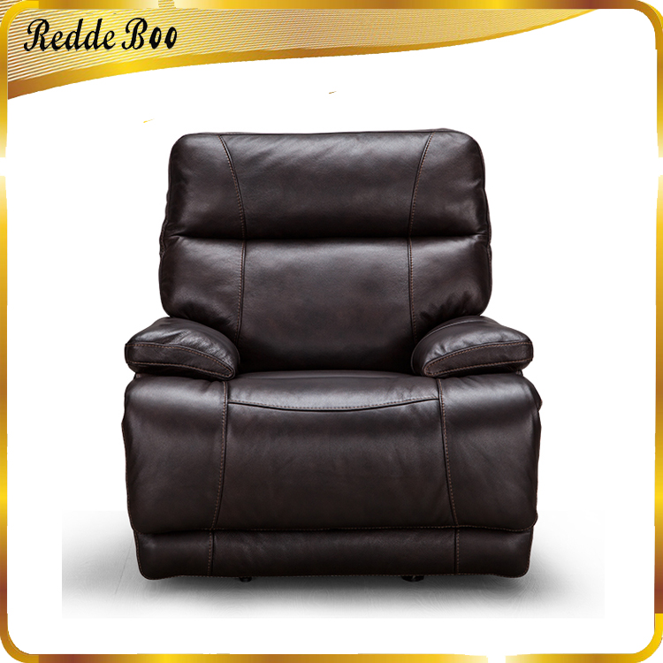Wholesale Italy Full Grain Leather Reclining Sofa Mobile Home
