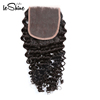 Top Quality Without Chemical Process Raw Malaysian Virgin Hair Deep Wave Human Lace Closure