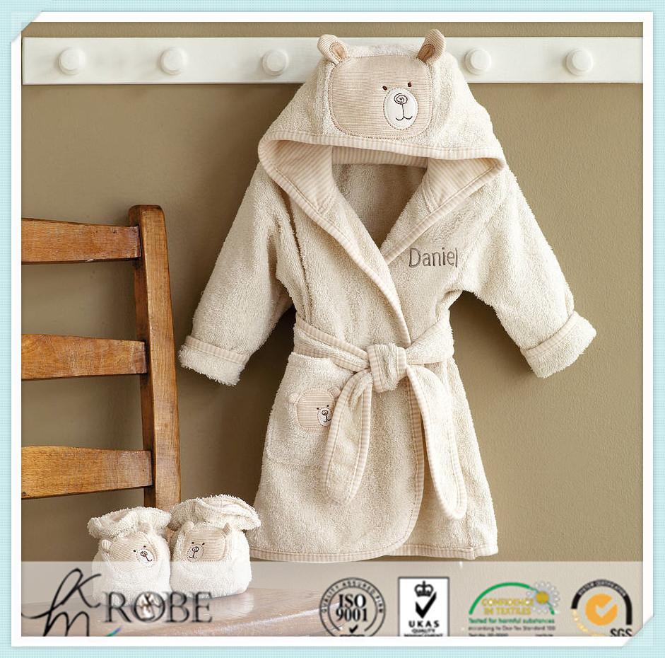 V-neckline Soft Stripe Cotton Jersey Knit Robe For Women