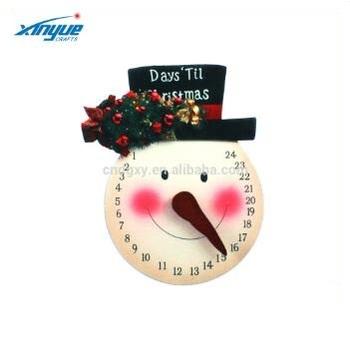 Snowman Countdown To Christmas Wall Hanging Advent Calendar