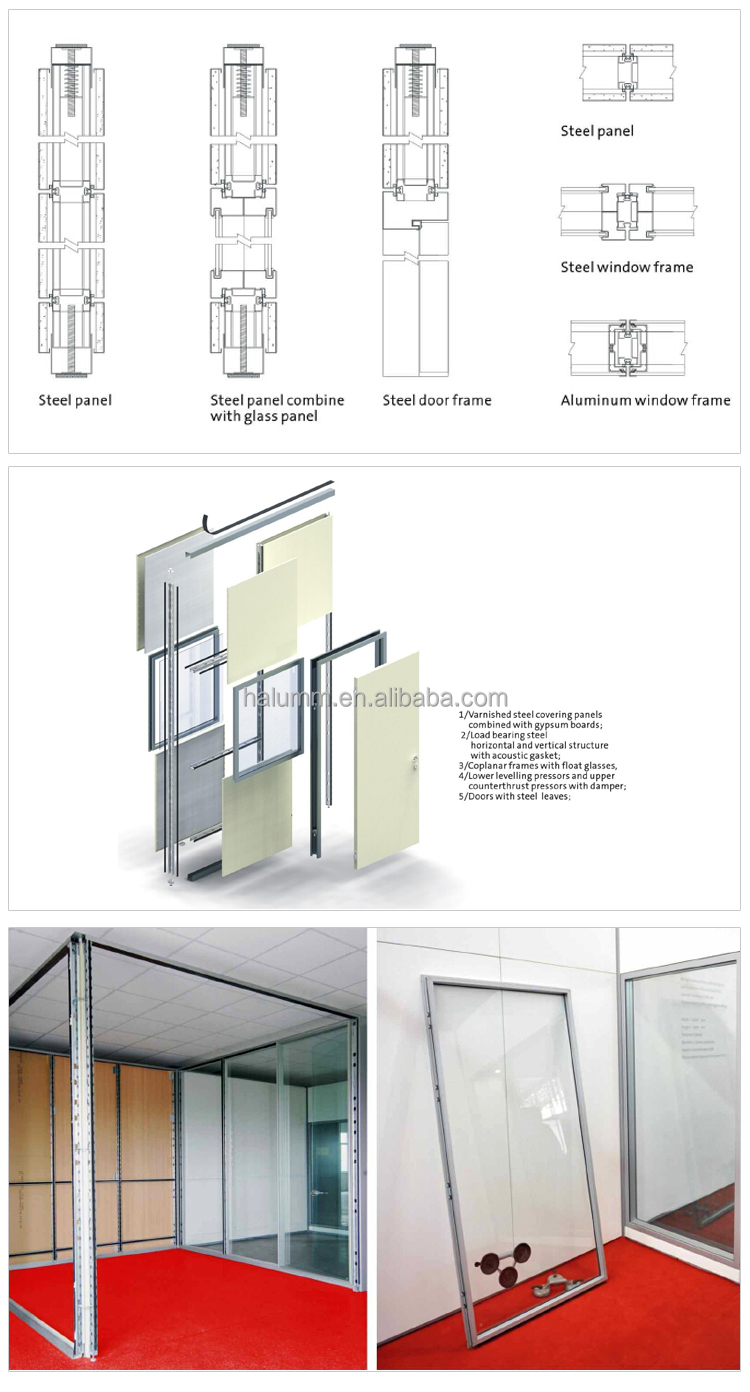 Excellent Quality Low Price Office Partition Glass Wall
