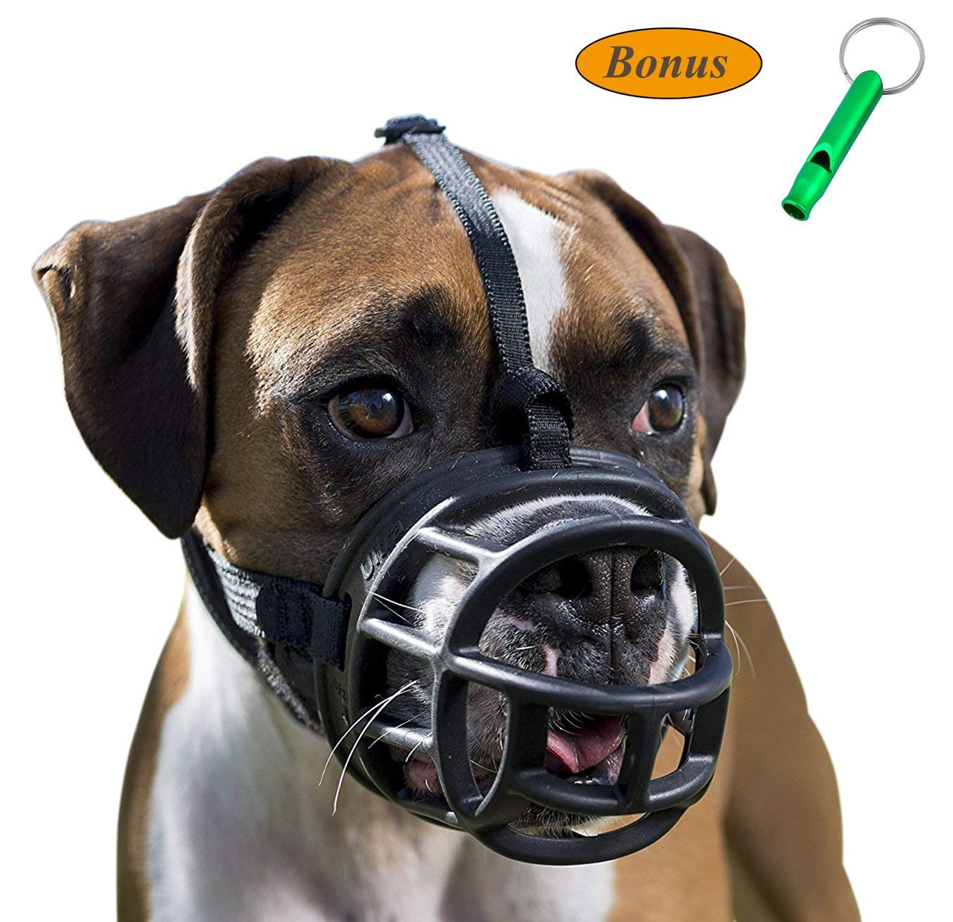 JeonbiuPet Pet Dog Muzzles, Dog Mouth Cover Soft Adjustable Breathable Silicone Dog Basket Muzzle for Training Biting Barking Chewing Panting